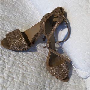 Zara jewel studded heels